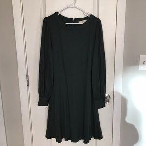 Loft green long sleeve dress